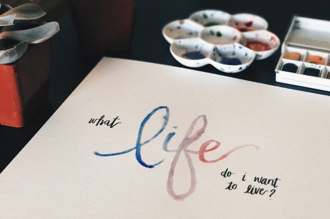 What Life Do I Want To Live - Jen Sincero You Are A Badass Cassey Ho Blogilates Watercolor